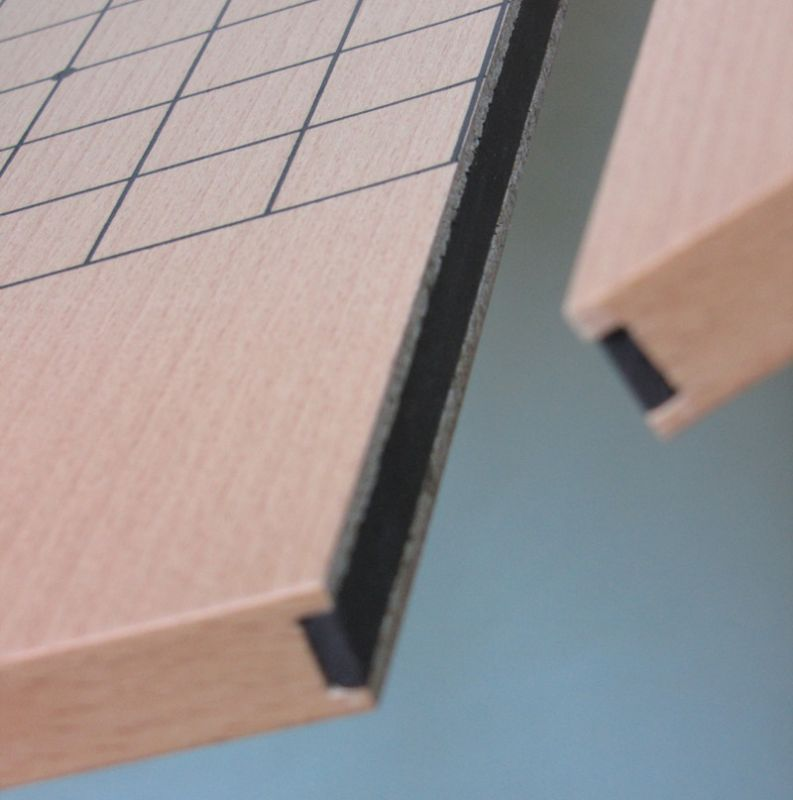 Dřevěná deska skládací s magnetem, oboustranná 19x19 + 13x13
