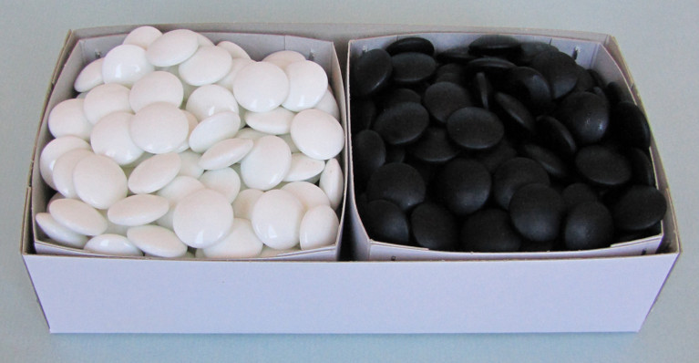 Skleněné kameny, 9 mm, 180+180