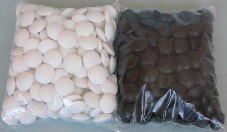Plastové kameny, 8,5 mm, 180+180
