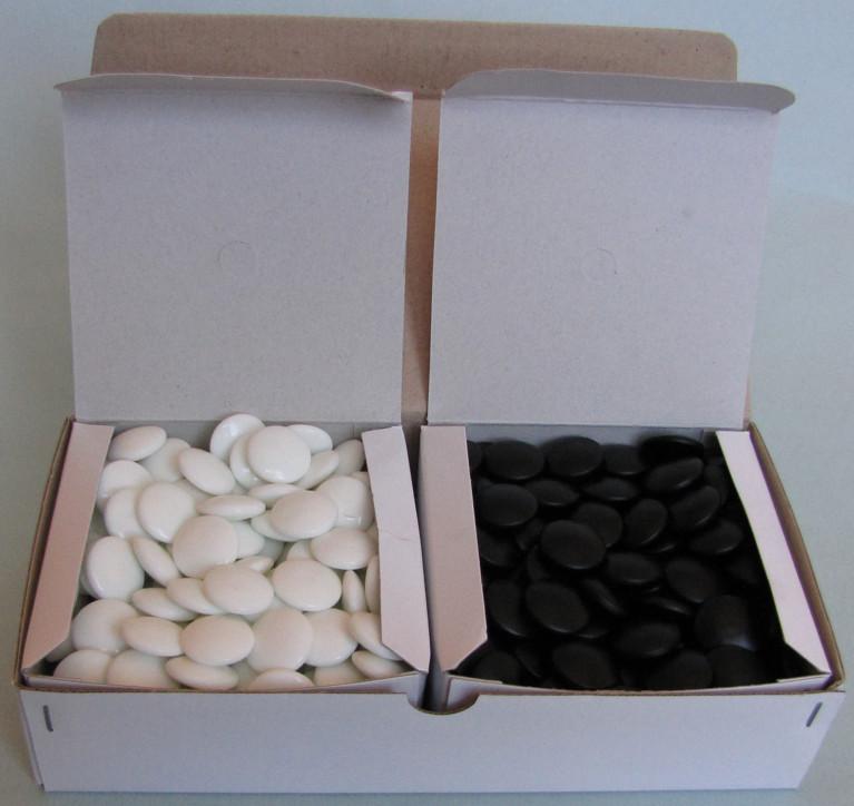 Skleněné kameny, 7 mm, 180+180