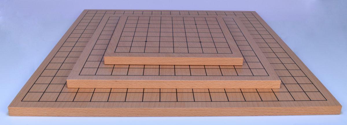 Dřevěná deska vcelku, oboustranná 19x19 + 13x13 (velká+střední)