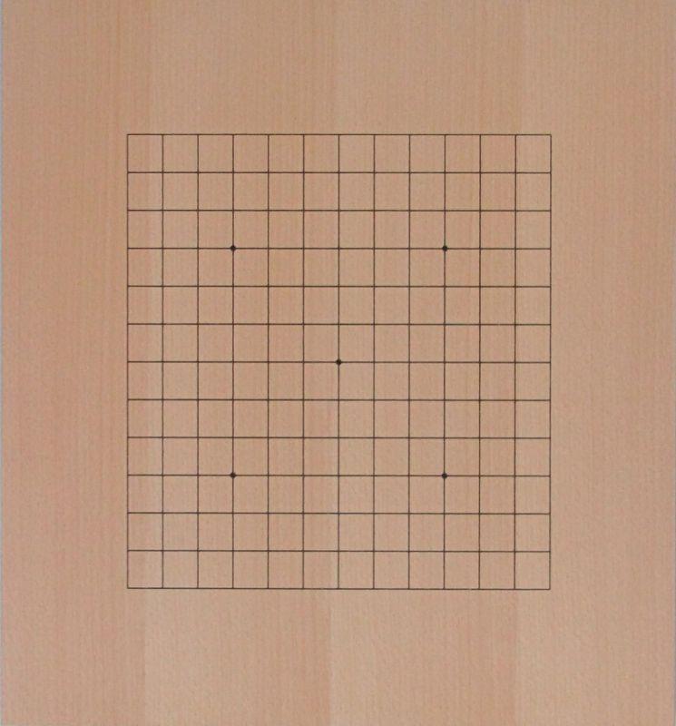 Dřevěná deska vcelku, oboustranná 19x19 + 13x13