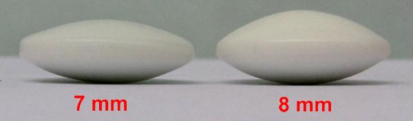 Skleněné kameny, 7 mm, 160+160, v plastových dózách